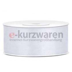 Satinband 75mm / 25m Weiß