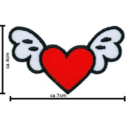 Aufnäher Termo Herz mit Flügel